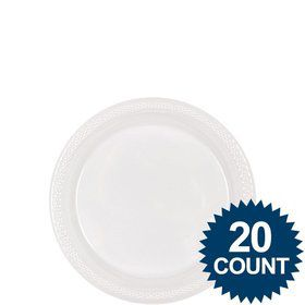 "Clear Plastic Plates, 7"" (20 count)"