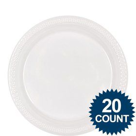 "Clear Plastic Plates, 9"" (20 count)"