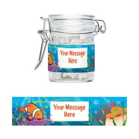 Clownfish Personalized Glass Apothecary Jars (12 Count)