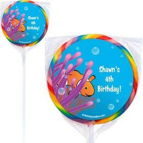 Clownfish Personalized Lollipops (pack of 12)