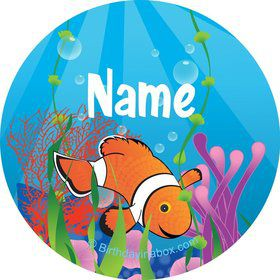 Clownfish Personalized Mini Stickers (Sheet of 24)