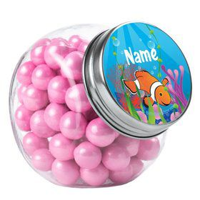 Clownfish Personalized Plain Glass Jars (12 Count)