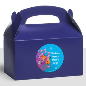 Clownfish Personalized Treat Favor Boxes (12 Count)