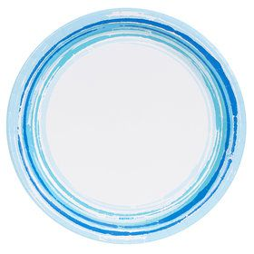 Coastal Sea Stripe Dinner Plate (8)