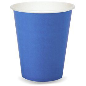 Cobalt Blue 9 oz. Paper Cups (8 Count)