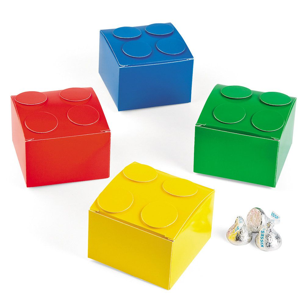 Color Brick Party Favor Boxes 12 Count Color Brick Costumes And