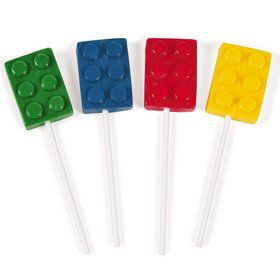 Color Brick Suckers (12 Pack)