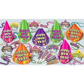 Color-Brite New Year's Party Kit (For 50 People)