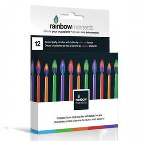 "Color Flame 2"" Candles (12 Pack)"