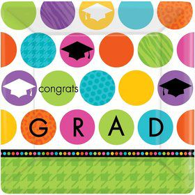 "Colorful Commencement 10"" Luncheon Plates (18 Pack)"