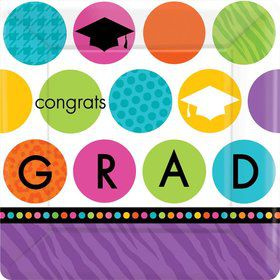 "Colorful Commencement 7"" Cake Plates (18 Pack)"