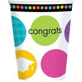 Colorful Commencement 9oz Cups (18 Pack)