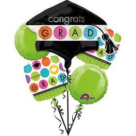 Colorful Commencement Balloon Bouquet (Each)