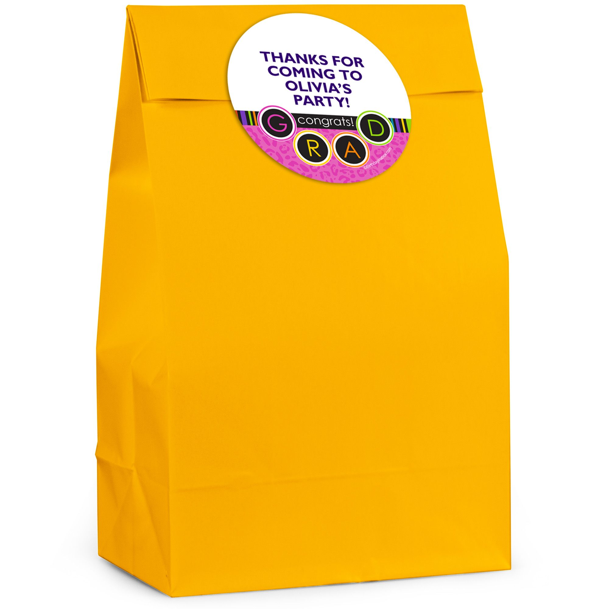 Colorful Commencement Personalized Favor Bag (12 Pack) BB321FB