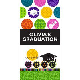 "Colorful Commencement Personalized Giant Banner 30X6"" (Each)"