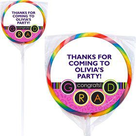 Colorful Graduation Personalized Lollipops (12 Pack)