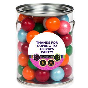 Colorful Graduation Personalized Paint Can Favor Container (6 Pack)