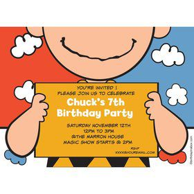 Comic Strip Kids Personalized Invitation (Each)