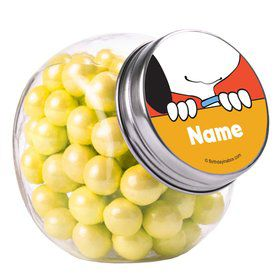 Comic Strip Kids Personalized Plain Glass Jars (12 Count)