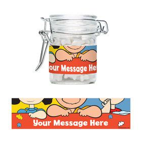 Comic Strip Kids Personalized Swing Top Apothecary Jars (12 ct)