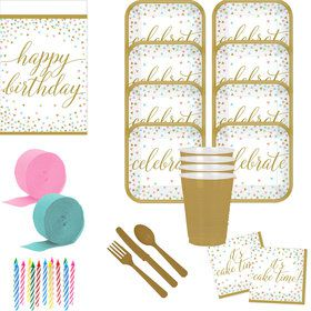 Confetti Fun Deluxe Tableware Kit (Serves 36)