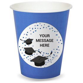 Confetti Grad Blue Personalized Cups (8)