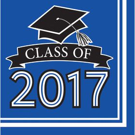 Congrats Grad Blue 2017 Lunch Napkins (36 Count)