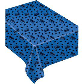 Congrats Grad Blue Plastic Table Cover (Each)