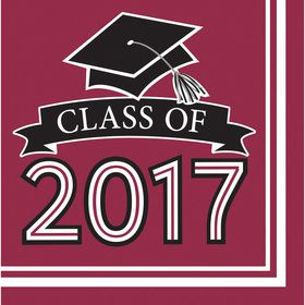 Congrats Grad Burgundy 2017 Lunch Napkins (36 Count)