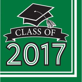 Congrats Grad Green 2017 Lunch Napkins (36 Count)