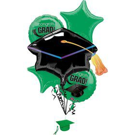 Congrats Grad Green Balloon Bouquet (Each)