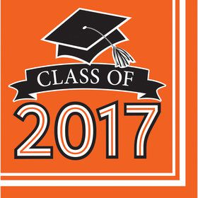 Congrats Grad Orange 2017 Lunch Napkins (36 Count)