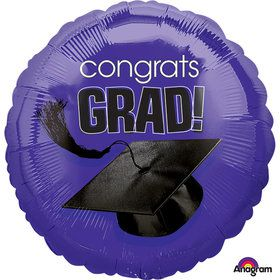 "Congrats Grad Purple 18"" Balloon (Each)"