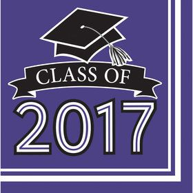 Congrats Grad Purple 2017 Lunch Napkins (36 Count)