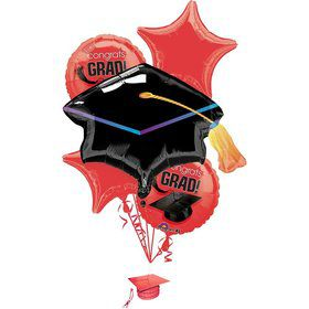 Congrats Grad Red Balloon Bouquet (Each)