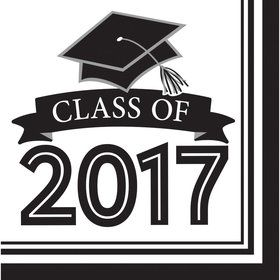 Congrats Grad White 2017 Lunch Napkins (36 Count)