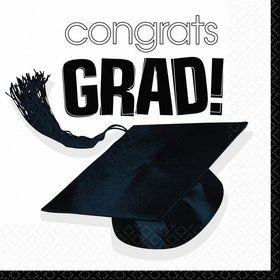 Congrats Grad White Luncheon Napkins (36 Pack)