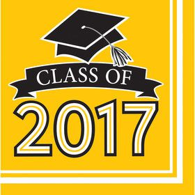 Congrats Grad Yellow 2017 Lunch Napkins (36 Count)