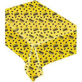 Congrats Grad Yellow Plastic Table Cover (Each)