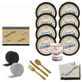Congratulations - It's Time To Celebrate Deluxe Tableware Kit (Serves 8)