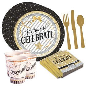 Congratulations - It's Time To Celebrate Standard Tableware Kit (Serves 8)