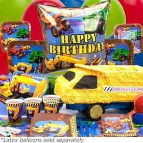 Construction Birthday Party Ultimate Tableware Kit Serves 8