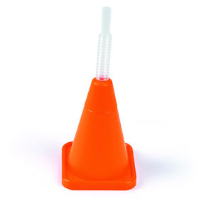 Construction Cone Molded Cups with Straws (8)