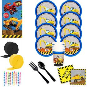 Construction Party Deluxe Tableware Kit (Serves 8)