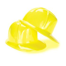 Construction Party Hard Hat (child sized) (12 Count)