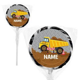 "Construction Party Personalized 2"" Lollipops (20 Pack)"