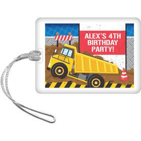 Construction Party Personalized Bag Tag (Each)