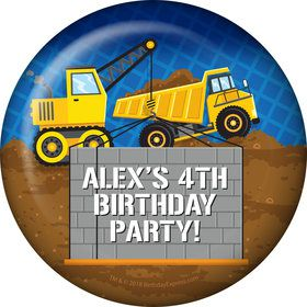 Construction Party Personalized Button (Each)