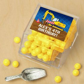 Construction Party Personalized Candy Bin with Candy Scoop (10 Count)