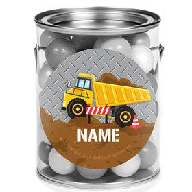 Construction Party Personalized Mini Paint Cans (12 Count)